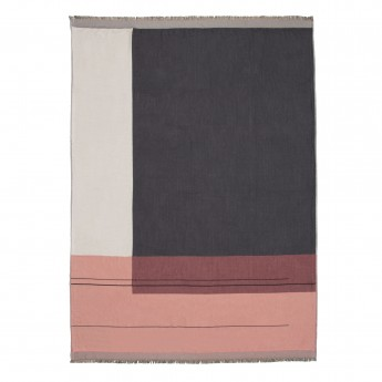 COLOUR BLOCK pink blanket