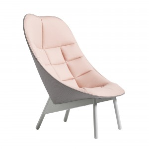 UCHIWA QUILT pink lounge chair