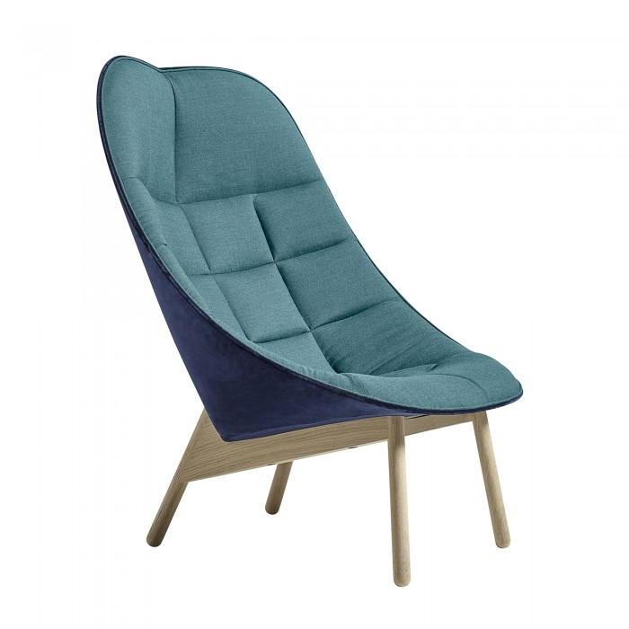 Uchiwa Blue Lounge Chair By Hay