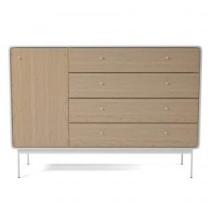 AMBER dresser L white/oak