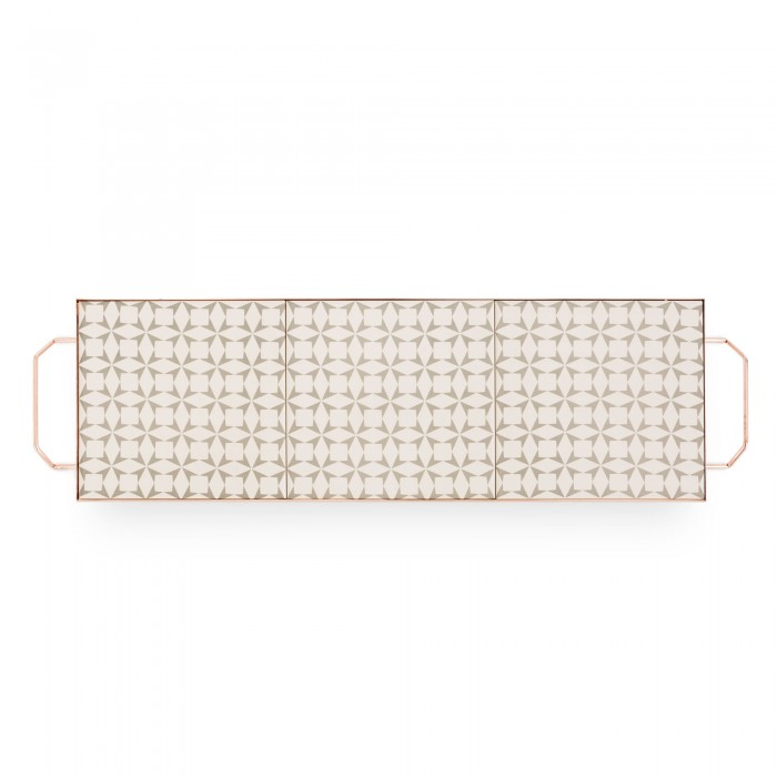 MIX & MATCH Large Rectangular Tray Grey