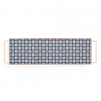 Plateau MIX & MATCH rectangulaire bleu M
