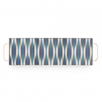 Plateau MIX & MATCH rectangulaire bleu L