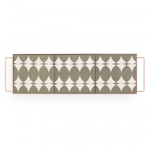 MIX & MATCH Medium Rectangular Tray Grey