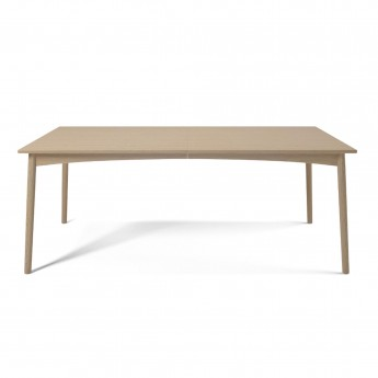 Table MEET - chêne pigmenté blanc