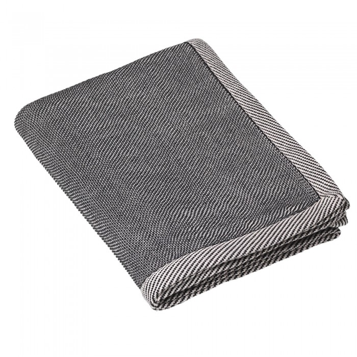 RIPPLE black throw