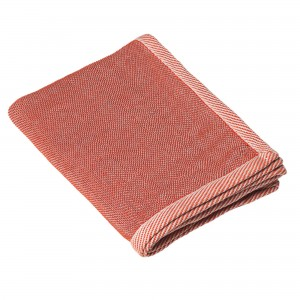 RIPPLE red throw