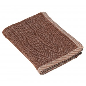 RIPPLE brown throw