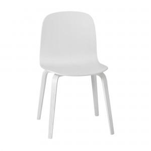 Chaise VISU pieds bois blanc