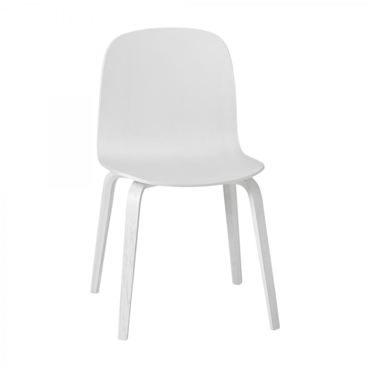 Chaise VISU blanc pieds bois MUUTO