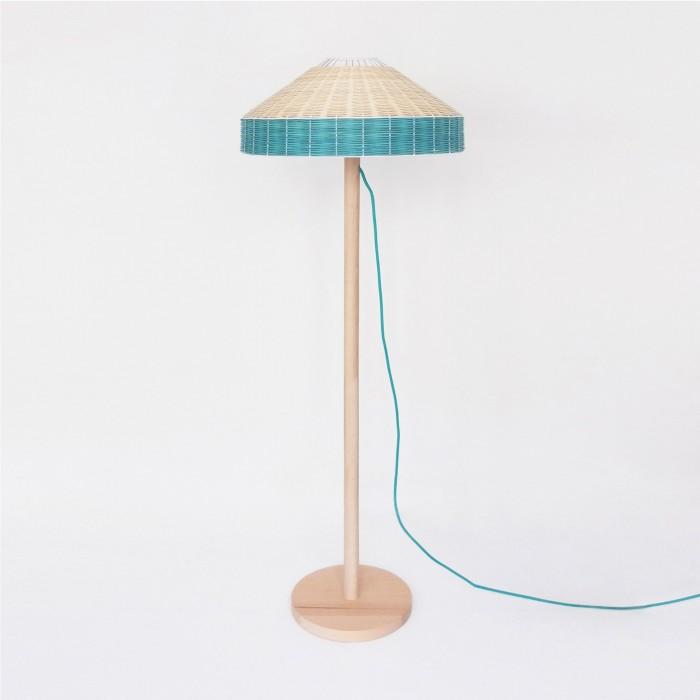 lampadaire bleu