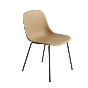 FIBER SIDE ochre chair - tube base