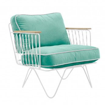 CROISETTE Armchair green water