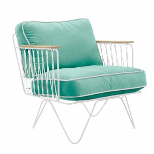 CROISETTE Armchair green water cotton