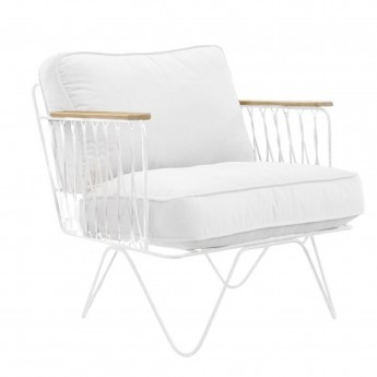 CROISETTE Armchair white cotton