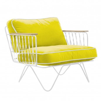 CROISETTE cotton bench Yellow