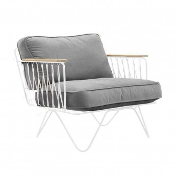CROISETTE velvet bench grey