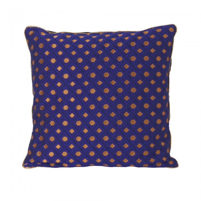SALON cushion - blue mosaic