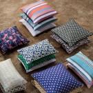 SALON cushion - blue mosaic