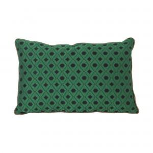 SALON cushion - green mosaic
