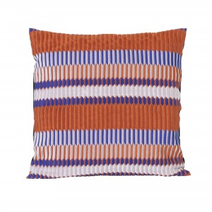Coussin SALON - pli orange