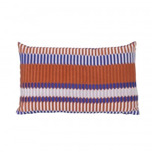 Coussin SALON - pli orange 2