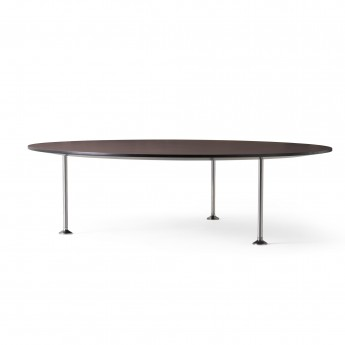 GODOT coffee table burgundy Ø90cm