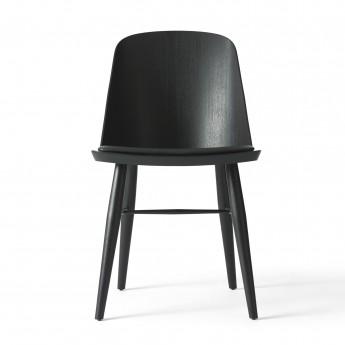 Chaise SYNNES cuir noir