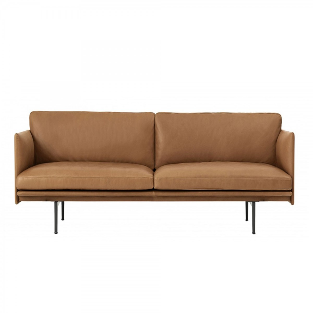 outline 2 seater sofa in leather muuto at colonel shop. Black Bedroom Furniture Sets. Home Design Ideas