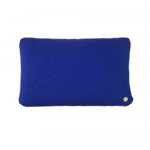 Coussin QUILT bleu foncé 40 x 25 cm