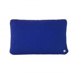 QUILT dark blue Cushion 40 x 25 cm