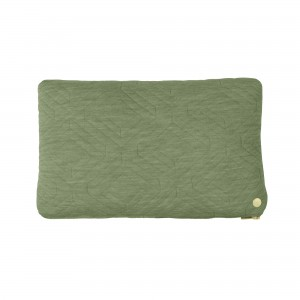 QUILT green Cushion 40 x 25 cm