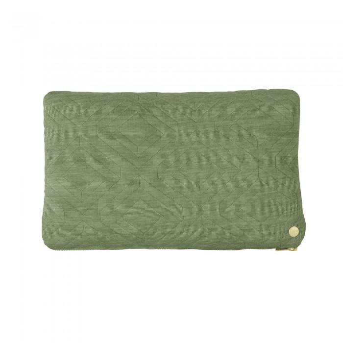 Coussin QUILT vert 40 x 25 cm