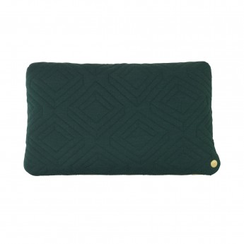 QUILT dark green Cushion 40 x 25 cm