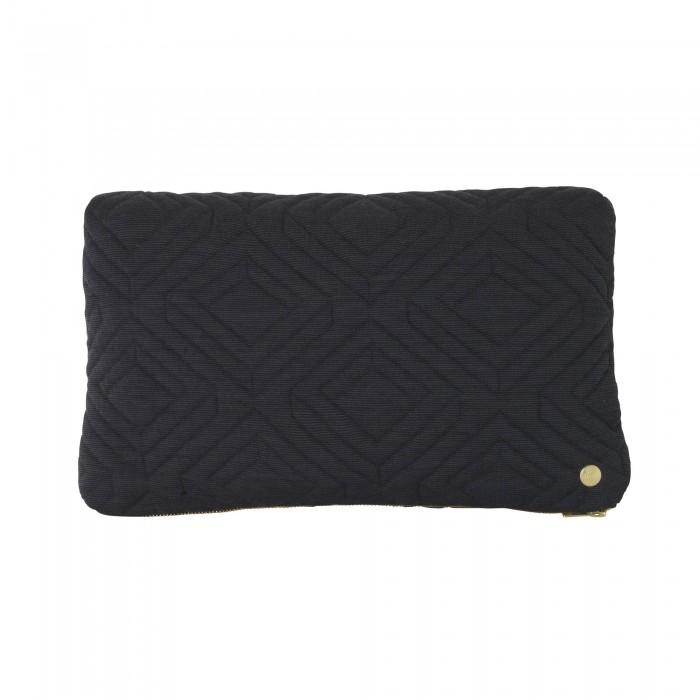 QUILT dark grey Cushion 40 x 25 cm
