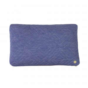 QUILT light blue Cushion 40 x 25 cm