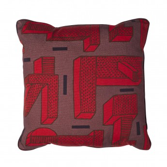 IN THE GRASS red cushion