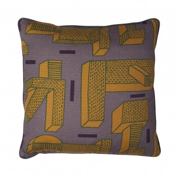IN THE GRASS ochre cushion