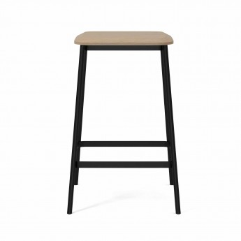 FACET Low barstool white oak