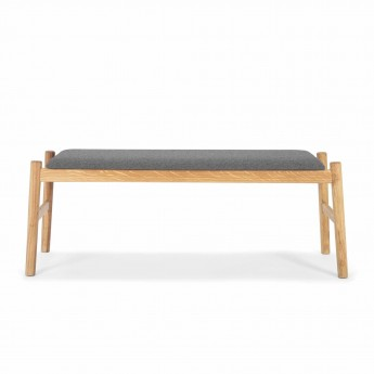 FLOAT Bench light grey oak