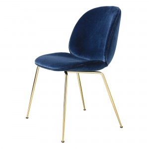 Chaise BEETLE - Velours bleu