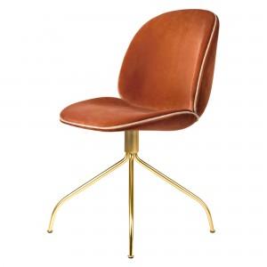BEETLE swivel dining chair - Rust velvet