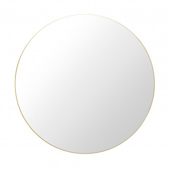 Round Wall Mirror Ø110 cm brass