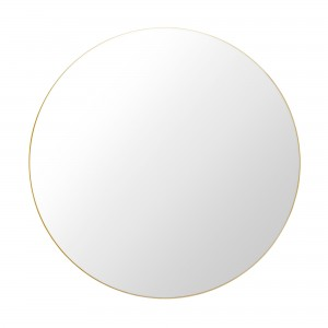 Round Wall Mirror Ø110cm brass