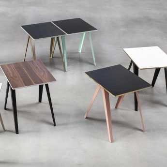 SANBA table black / turquoise
