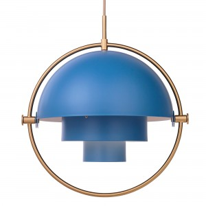 MULTI-LITE pendant blue & brass