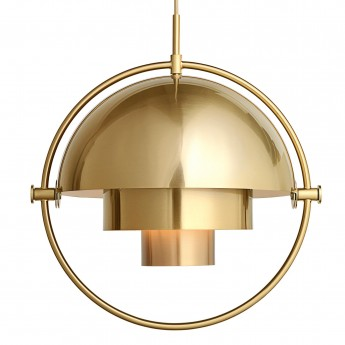 MULTI-LITE pendant white & brass