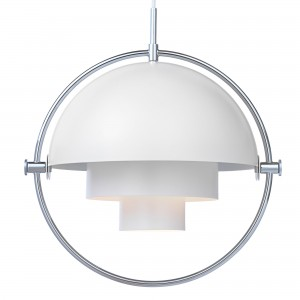 MULTI-LITE pendant white & chrome