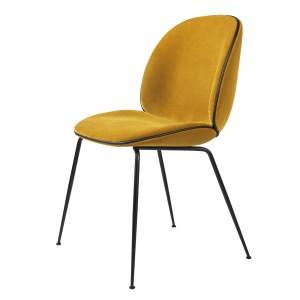 BEETLE dining chair - yellow velvet