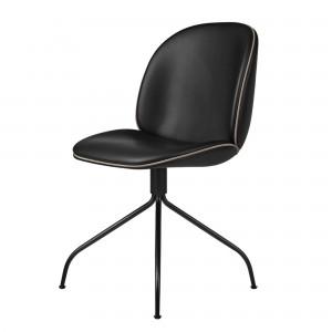 Chaise BEETLE pivotante - cuir noir